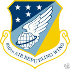STICKER USAF 916TH AIR REFUELING WING
