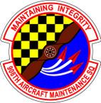 STICKER USAF 908TH MAINTENANCE SQUADRON