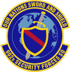 STICKER USAF 902nd Security Forces Squadron