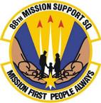 STICKER USAF 88TH MISSION SUPPORT SQUADRON