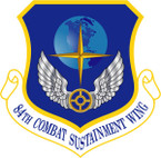 STICKER USAF 84TH COMBAT SUSTAINMENT WING