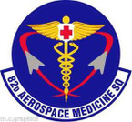STICKER USAF 82nd Aerospace Medicine Squadron Emblem