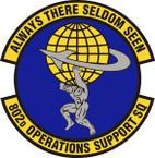 STICKER USAF 802nd Operations Support Squadron Emblem