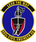 STICKER USAF 802nd Civil Engineer Squadron Emblem