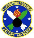 STICKER USAF 7th Munitions Squadron