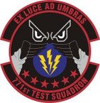 STICKER USAF 771st Test Squadron Emblem