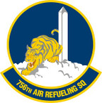 STICKER USAF 756th Air Refueling Squadron