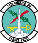 STICKER USAF 742nd Missile Squadron Emblem