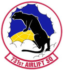 STICKER USAF 731ST AIRLIFT SQUADRON