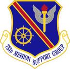 STICKER USAF 733rd Mission Support Group Emblem