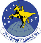 STICKER USAF 72ND AIRLIFT SQUADRON