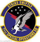 STICKER USAF 71st Special Operations Squadron (AETC) Emblem
