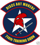 STICKER USAF 714TH TRAINING SQUADRON