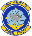 STICKER USAF 709TH AIRLIFT SQUADRON