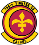 STICKER USAF 706th FIGHTER SQUADRON