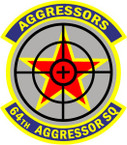 STICKER USAF 64TH AGGRESSOR SQUADRON