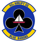 STICKER USAF 62nd Airlift Squadron