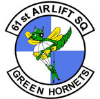 STICKER USAF 61ST AIRLIFT SQUADRON