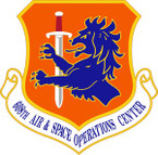 STICKER USAF 608th Air and Space Operations Center Emblem