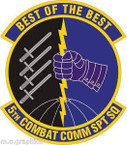 STICKER USAF 5th Combat Communications Support Squadron