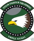 STICKER USAF 555TH FIGHTER SQUADRON