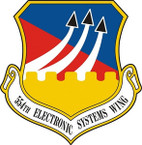 STICKER USAF 554TH ELECTRONIC SYSTEMS WING