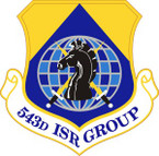 STICKER USAF 543rd Intelligence Surveillance and Reconnaissance Group Emblem