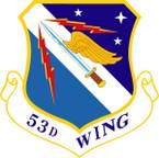 STICKER USAF 53RD WING