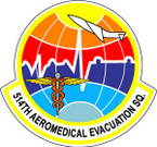 STICKER USAF 514TH AEROMED EVAC SQUADRON