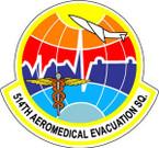 STICKER USAF 514TH AEROMED EVAC SQUADRON