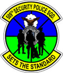 STICKER USAF 509TH SECURITY POLICE SQUADRON