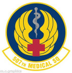 STICKER USAF 507th Medical Squadron Emblem