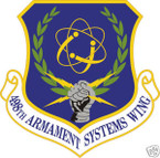 STICKER USAF 498TH ARMAMENT SYSTEMS WING