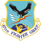 STICKER USAF 477th Fighter Group (AFRC) Emblem