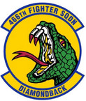 STICKER USAF 466TH FIGHTER SQUADRON