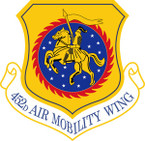 STICKER USAF 452ND AIR MOBILITY WING