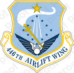 STICKER USAF 446TH AIRLIFT WING