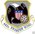 STICKER USAF 442ND FIGHTER WING