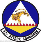 STICKER USAF 42nd Attack Squadron Emblem