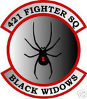 STICKER USAF 421ST FIGHTER SQUADRON BLACK WIDOW