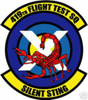 STICKER USAF 419TH FLIGHT TEST SQUADRON