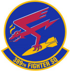 STICKER USAF 389TH FIGHTER SQUADRON
