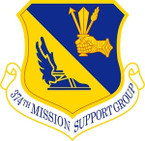 STICKER USAF 374TH MISSION SUPPORT GROUP