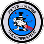 STICKER USAF 366TH TFW DA NANG