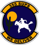 STICKER USAF 355TH SUPS