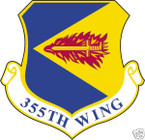 STICKER USAF 355TH WING