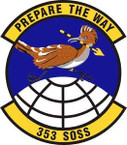 STICKER USAF 353rd Special Operations Support Squadron Emblem