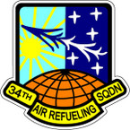 STICKER USAF 34TH AIR REFUELING SQUADRON