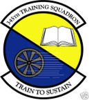 STICKER USAF 345TH TRAINING SQUADRON