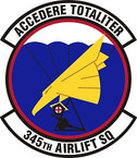 STICKER USAF 345th Airlift Squadron